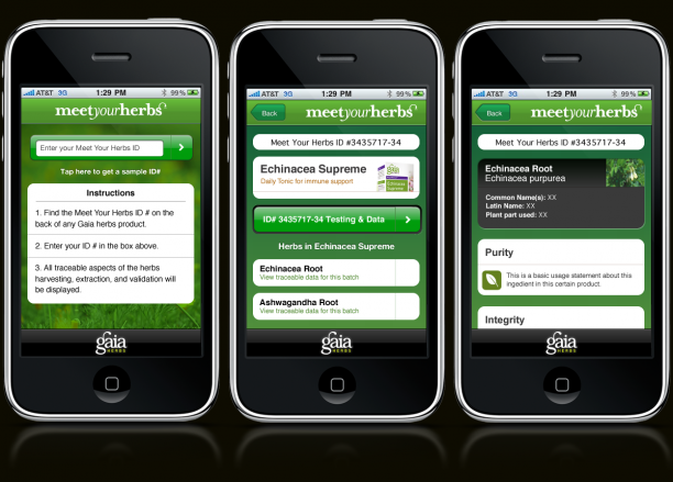 Herb Finder iPhone App